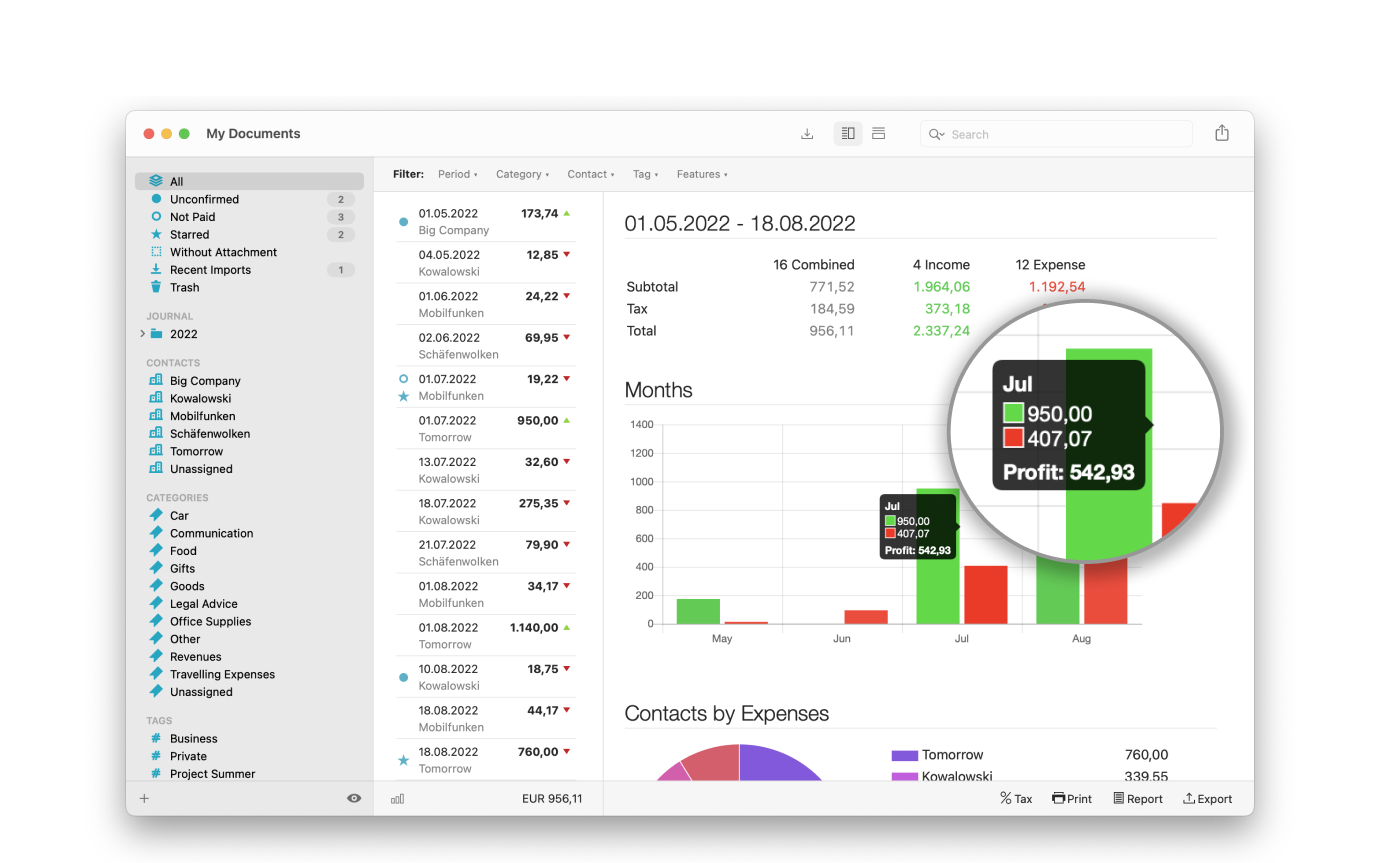 receipts mac app collects your documents